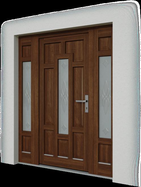 Drevene vchodové dvere