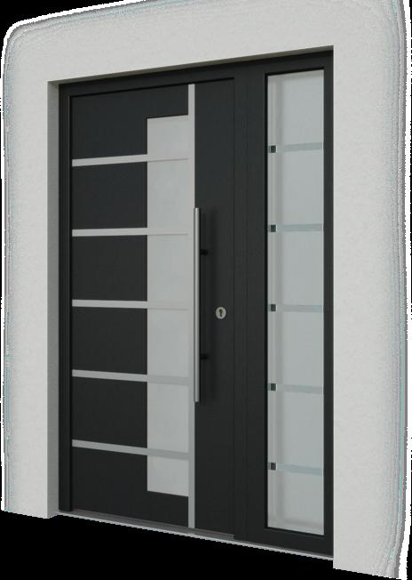 Drevohliníkové vchodové dvere