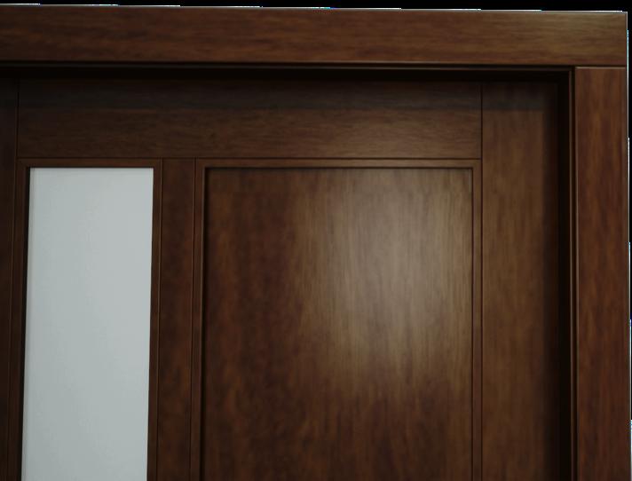 Obložka na dverách vodorovná