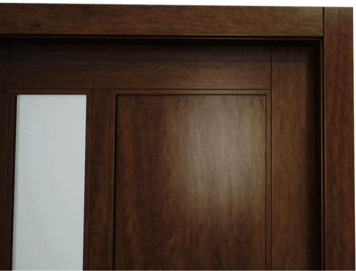 obložka na dverách zvislá